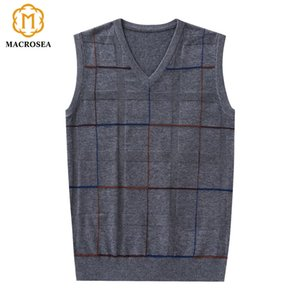 Laine Business Casual formels MACROSEA hommes Gilet Pulls Homme Pull tricot manches Marque Pulls jersey pour hommes