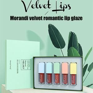 Velvet Mist Matte Smooth 5 Colors Lip Gloss Long-lasting Waterproof Non-fading Moisturizing Liquid Lipstick MakeupR1
