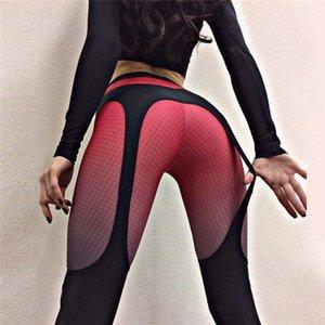 9YZhT Sling digital Taille strecken Druck Hüfte Hebe hohe feste Hosen enge Hosen Sling Strumpfhosegamaschen Yoga