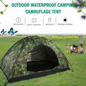 2020 dobrável Plus Size Tent impermeável anti UV Heave Up Tent exterior Camouflage impressão Camping Caminhadas Montanhismo kVp0 #