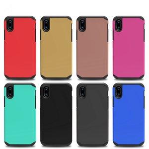Armadura para el iPhone iPhone 8 x 8 Galaxy Note Para la cubierta ZTE Sequoia Z max Pro 2 MetroPCS Z982 duro híbrido de plástico + TPU
