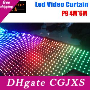 Led Video Tricolore 3in1 High Quality Video Pitch9 4m * 6m tenda principale Pc Mode Controller 2904pcs Curtain Per Wedding Fondali