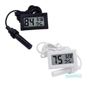 Mini Digital LCD Thermometer Hygrometer Temperature Humidity Meter Thermometer probe white and Black in stock Free shipping SN2476