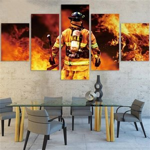 Fireman People Cross Stitch DIY Painting 5D Diamond Home Decor Picture Embroidery Pattern Wall Sticker Mosaic Full Round Drill 0922