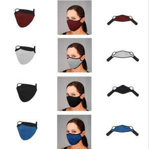 4 цвета Cycling маски Мужские и Женские Solid Color двухслойной пыле Anti-дымка дышащий моющийся многоразовый маска YYA372