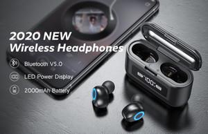 Auriculares F9 Waterproof BT 50 Headphones Powerbank Power Bank Tws Earphone Wireless Earbuds With LED Display Charging Case