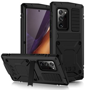 Heavy Duty Protection Phone Case for Samsung Note 20 S20 Ultra S21 shock Resistant Waterproof Dusty-proof Full Cover with kickStand Glass
