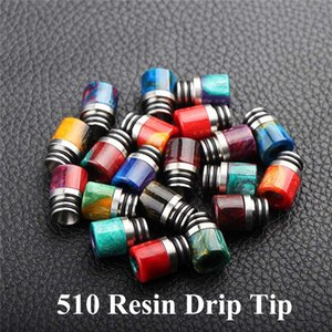 Colorful Resin 510 Drip Tip Mouthpiece Wire Bore Tips Replacement Dripper Tip Snake Skin For TFV12 Prince and TFV8 X Big Baby and 528 Goon