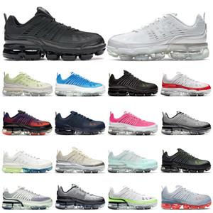 air vapormax 360  Mulheres Dos Homens Flyline Running Shoes Sports Skateboarding Ones Shoes Cut Preto Branco Formadores de Trigo Sneakers 36-45