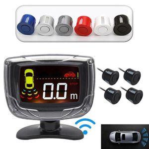 Wireless Car Parking Sensor Set LCD Display 4 Probe Backup Reversing Radar Monitor Detector System