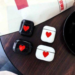 Aripods برو حالة سماعات بلوتوث اللاسلكية Aripods 1/2 كم واقية رسالة موضة قلب نمط على شكل Headpset صندوق التخزين