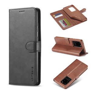 PU Leather Phone Case For Samsung S20 Plus Ultra Soft TPU Wallet Case Luxury Back Cover with Credit Card Slots for iPhone