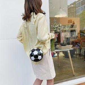 Rodada pequeno ombro Sling Bags Moda Feminina Shoulder Messenger Bag Football Forma PU Leather Mulheres Mensageiro Bolsa