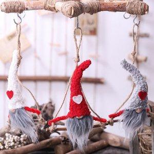 Plush Gnome boneca de Natal sueco Gnome de Santa Plush Doll Xmas Tree Ornament Início boneca de pelúcia KKA8034