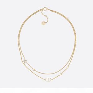 Роскошное ожерелье NEW буква D C ожерелье New Diamond Перл площадь бренд алмазы различного CC стиль украшения