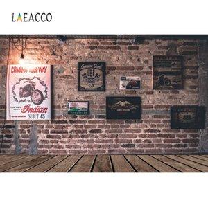 Laeacco Old Brick Wall Poster Cadre Sol en bois pour bébé Party Portrait photo Wall Background Photographie Backdrop Pour Studio