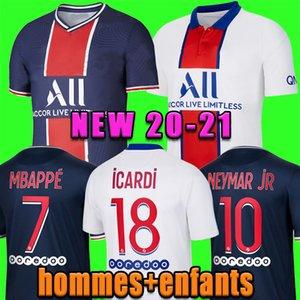 20 neue Fußball-Trikot 21 Maillots de Fußballhemden 2020 2021 Mbappe NEYMAR JR ICARDI Männer + Kinder Assemblies enfants maillot de foot 4. vierte