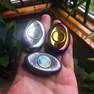 Hohe Qualität EDC Fingertip Gyro Vergriffener Zwei-Blatt-Titan-Legierung Backen Farbe Hell Erwachsene Dekompression Spielzeug LJ200921