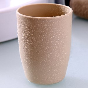 Plain Green Plastic Couple Mouthwash Cup Rinsing Mug Couple Rinse Cup Creative Thick round Water Cup