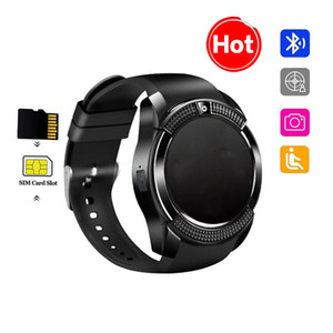 Sport Men android smart watch v8 sim card camera rounded Answer Call Dial Call smartwatch Heart Rate Fitness Tracker montre intelligente