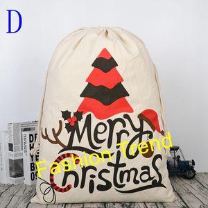 50pcs lot 5 Styles New Arrival Latest Fashion Personalized Cute Christmas Gift Bags Drawstring Santa Sack
