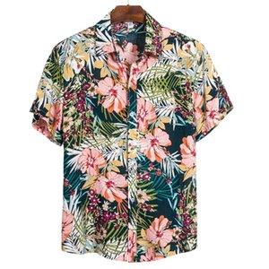 Hawaiian Men's Shirt Ethnic Printing Short Sleeve shirt men streetwear Casual regular fit Blouse Tops camisa social masculina