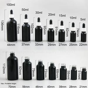 500 X 1 унция капли черного стекла флакон-капельница 10 мл 15 мл 20 мл 30 мл 50 мл бутылка масла Пипетка