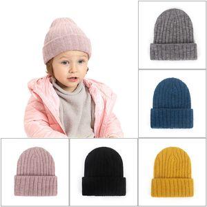 Bebek Örgü Tığ Beanie Şapka Kış Sıcak Kapaklar Açık Pamuklu Çocuk Şapkalar