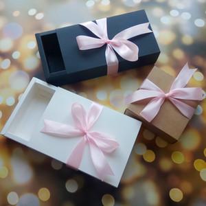 10PCS هدية مربع درج حفل زفاف لصالح صناديق كوكي زهرة مربع مع درج الحلو حفل زفاف لصالح هدية مخصصة مع شعار