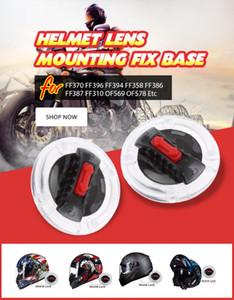 1 Pair Motorcycle Helmet Lens Mounting Fix Base For LS2 Helmet Lens FF370 396 394 358 386 387 310 OF569 578 Etc 40mm*40mm 2020