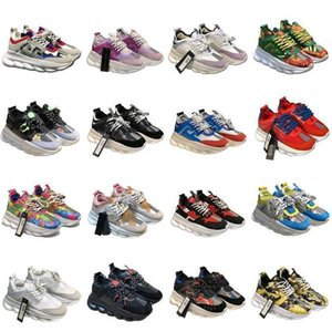 2020 Fashion Cross Chainer 2 Sneakers medusa platform VERSACE vintage Designer Reaction Shoes Versace chain reaction chain reaction sneakers Sports Trainers Luxe Sneaker