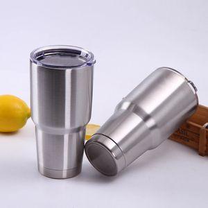 304 Stainless Steel Vacuum Flask Car Mug Portable 30oz 20oz 12oz Solid Color Ice Master Mug Cold Beer Mug Coke Mugs Egg Cups VT1693