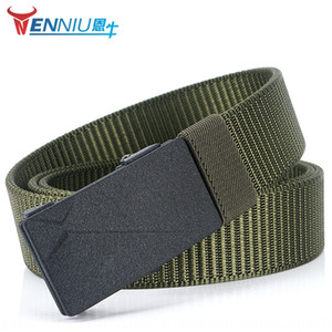 Toothless automatic nylon smoothbusiness Youth Men's Korean fashion men's casual pants Casual pants belt belt belt