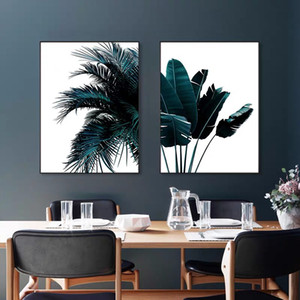 2020 Posters Tropical Plant Plantain Leaves Canvas Painting Print Palm Tree Leaf Wall Art Nordic Wall Mural for Living Room Decor