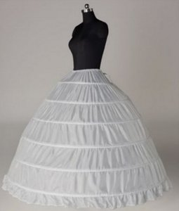 2020 Free Shipping White Wedding Bridal Petticoats For Ball Gown Dress Cheap Underskirt Hoop Skirt Bridal Accessories