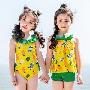 ABZ6r c9p4G Novo estilo irmã médio maiô abacaxi calças impressa dividir boxer e crianças pequenas é para calças jumpsuit Boxer jumpsuit meninas