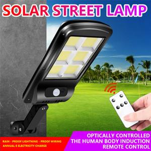 2020New lumière solaire 3 Modes étanche IP65 LED Lampe solaire de mouvement PIR capteur LED Jardin Lumière rue Lumière d'extérieur