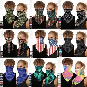 Kulak-hung Tasarımcı Maskeler sihirli eşarp Amerikan bayrağı motosiklet bisiklet yarım yüz maskesi hayalet fular çok amaçlı boyun hayalet yarım yüz maskesi