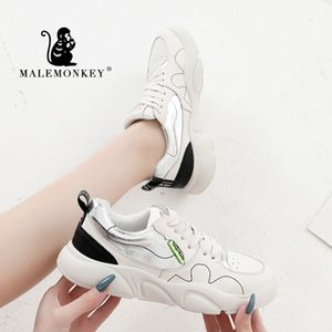 MALEMONKEY 013034 Mulher Moda suave Sapatos 2020 Nova Primavera leves confortáveis de respirável Mulheres sapatilhas clássicas sapatos baixos