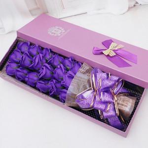 18 Adet Best hediyeler Kokulu Banyo Sabunu Gül Çiçek Bitki Esansiyel Yağı Gül Sabunu Seti ile Hediye BoxFor Kadınlar Sevgililer Günü