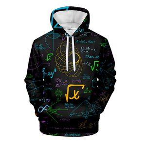 New Mathematical Formula 3D Fashion Hoodie Print Man Woman Kid Math Fun Logistics Chemistry High Hooded Street Sweatshirt Autumn T200813