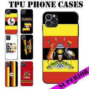 Uganda National Flag Theme I Love Landscape Map Heart Coat Of Arm Antique TPU Phone Cases For iPhone 6 7 8 S XR X Plus 11 Pro Max SE 2020