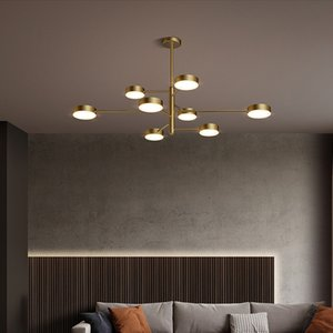 Brass chandelier lighting for living room bedroom dining room  American pendant lamps high class copper creative chandeliers lights