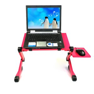 Adjustable Portable Laptop Table Folding Computer Desk Aluminium laptop desk for Students Dormitory With Big Cooling Fan