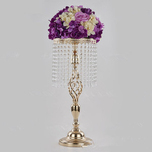 70cm Rhinestone Candelabra Wedding Party Elegant Candle Holder Pretty Table Centerpiece Vase Stand Crystal Candlestick Wedding Decor EEA1906