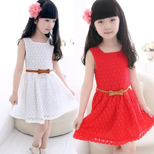 Hot Summer Lace Vest Girl Dress Baby Princess Dress Kids Costume baby girl clothes dress elegant for travel casual party July20