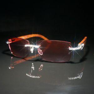 Diamante Sunglasses Men Carter óculos de armação Sun Óculos para mulheres Pedras óculos de sol para Decoração Moda Óculos para Club
