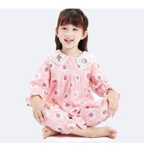Детские Gilrs с длинным рукавом животных милые пижамы 2020 новое прибытие комфортабельный материал сетки