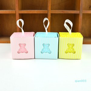 10pcs Orso europeo Hollow scatola di favore e borse dolce regalo fai da te di caramella per il neonato compleanno creativo ospiti per feste hx0093