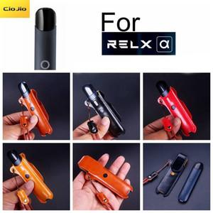 Leder Magnetic Vollschutzhülle für relx 2. Alpha mit Gurt Lanyard